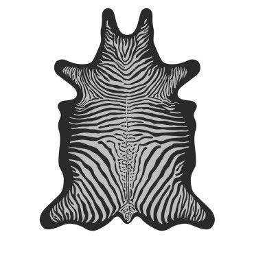 bokala tapis vinyle imprime noir