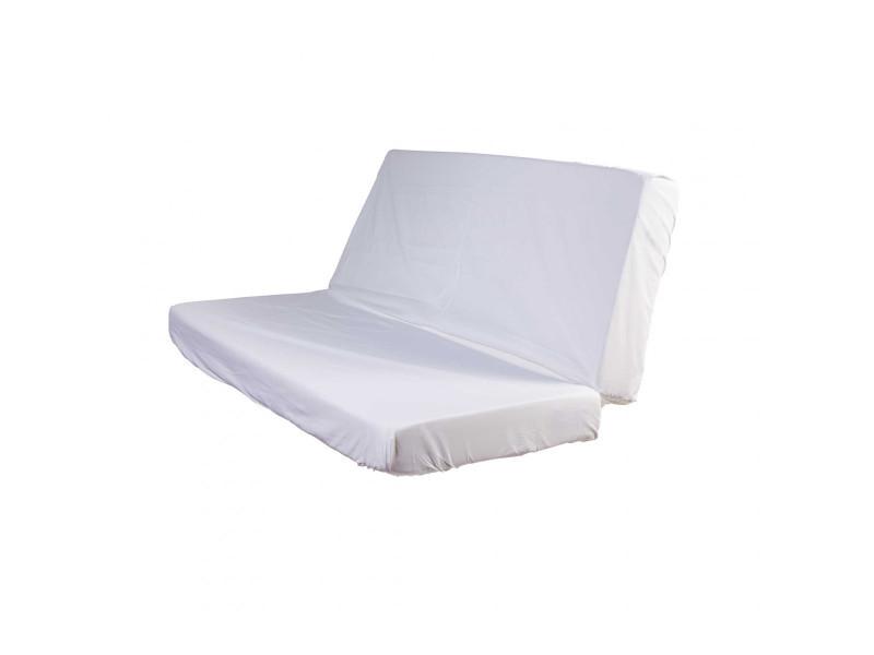 Drap Housse Blanc Pour Matelas Clic Clac Bonnet 20 Cm 130x190 Vente De Terre De Nuit Conforama