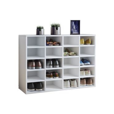 meuble a chaussures blanc 20 cases