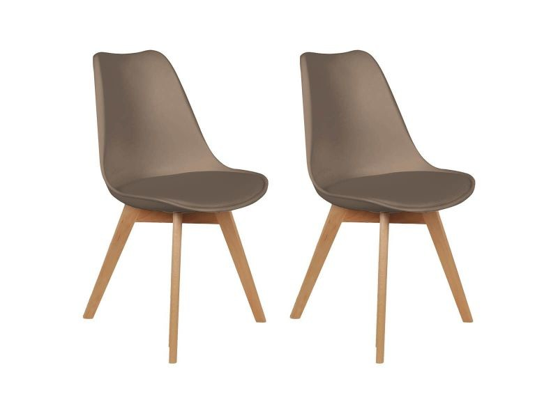 medaline lot de 2 chaises scandinaves