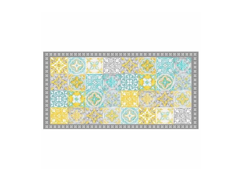 tapis vinyle 50x100 cm alicante jaune