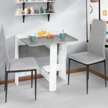 table console pliable edi blanche