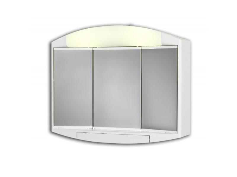 Armoire De Toilette Avec Eclairage Fluocompacte 49 Cm X 59 Cm Hxl Vente De Pradel Premium Conforama