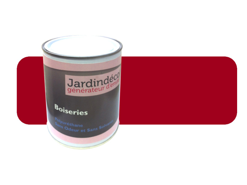peinture rouge de secu pour meuble en bois brut 1 litre