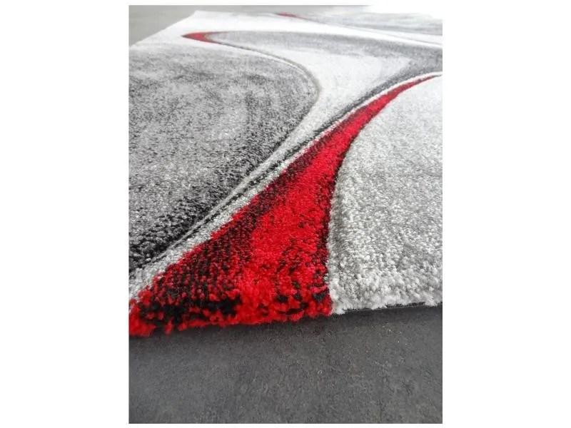 Tapis Rond Pour Le Salon Milar Rouge 100 X 100 Cm Tapis De