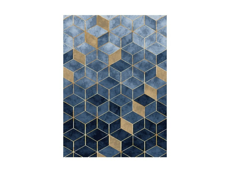 tapis luxe bleu 160x230cm