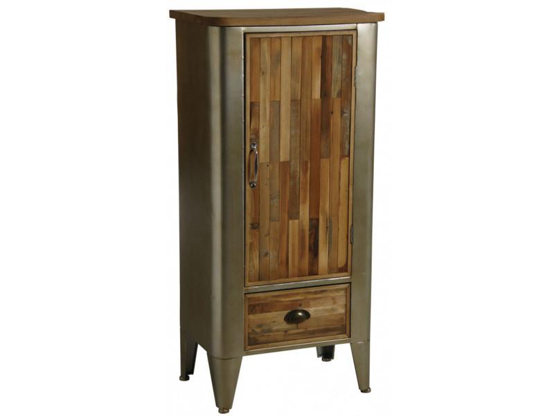 armoire metal bois