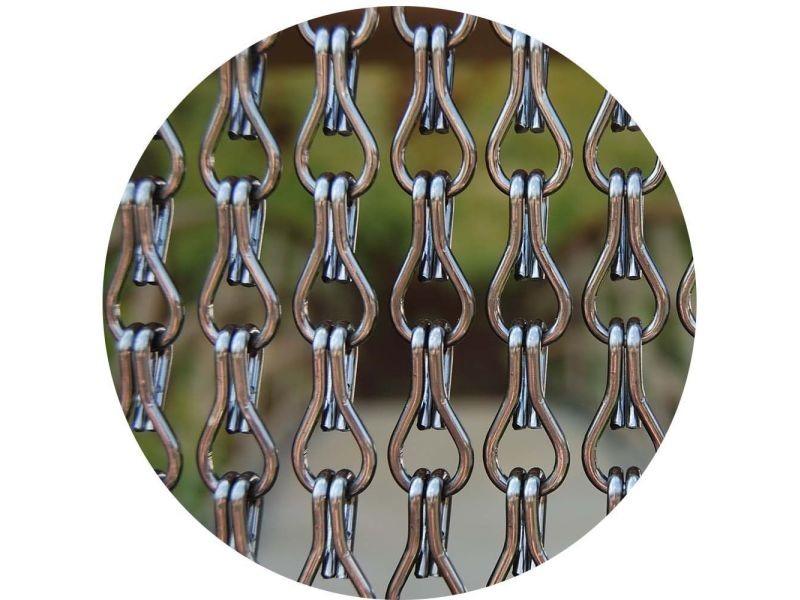rideau de porte en aluminium alusax 100x230 cm vente de rideau voilage store conforama