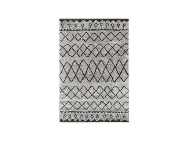 touareg tapis de couloir style berbere 80 x 150 cm 100 polypropylene gris