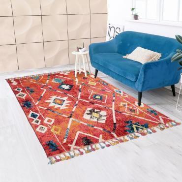 tapis style berbere 160x160 carre cm