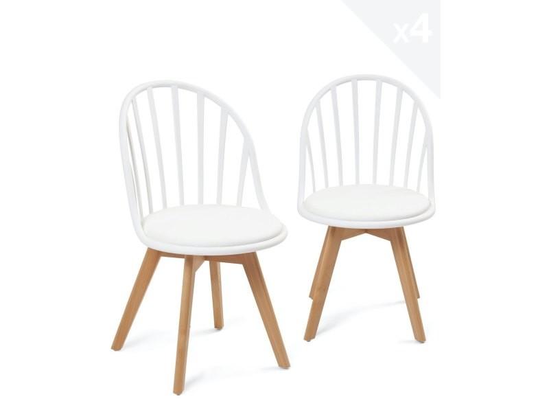 lot de 4 chaise scandinave bistrot avec
