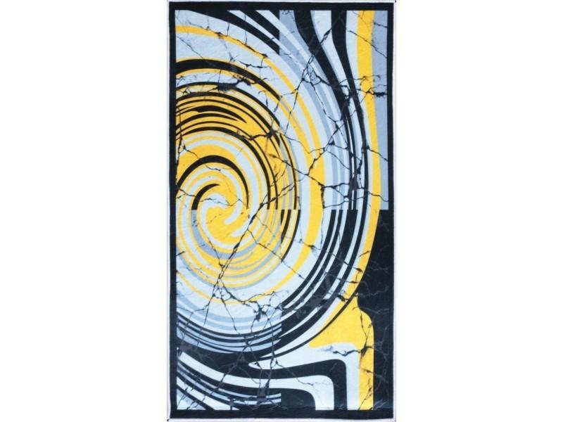 tapis tourbillon jaune 200x290cm