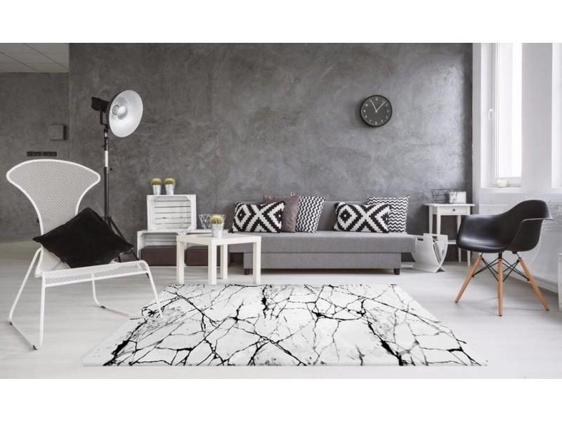 tapis de salon marbre blanc 120x180cm