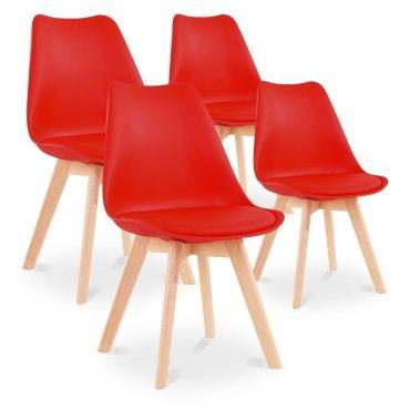 lot de 4 chaises style scandinave