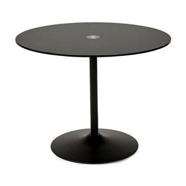 table a manger ronde 100 cm en verre et