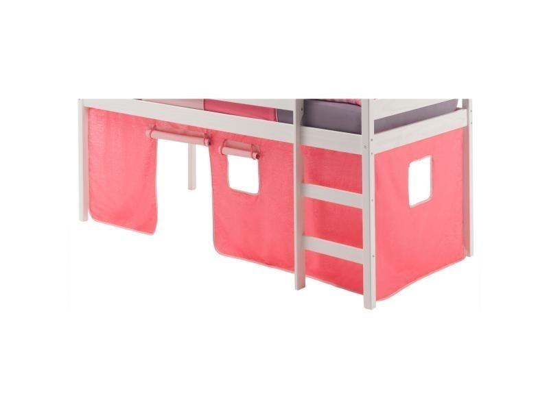 rideaux pour lit superpose ou lit sureleve coton rose