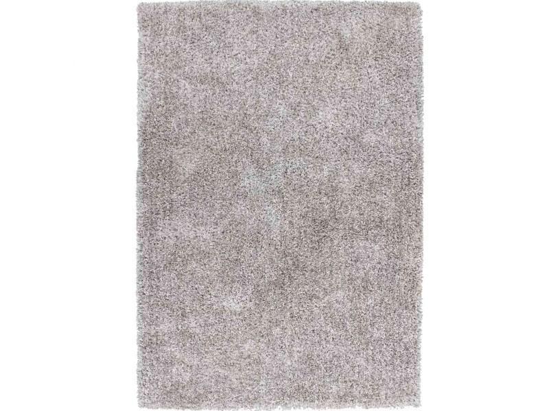 tapis shaggy uni soft gris 160x230cm