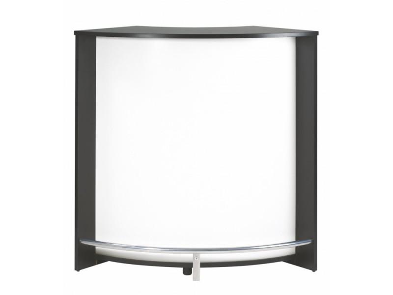 Meuble Comptoir Bar Acceuil Noir 107 Cm Coloris Blanc Vente De Beauxmeublespaschers Conforama