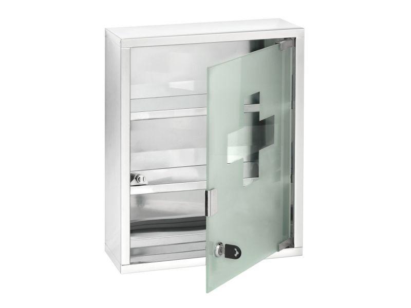 armoire a pharmacie acier 30 x 40 cm