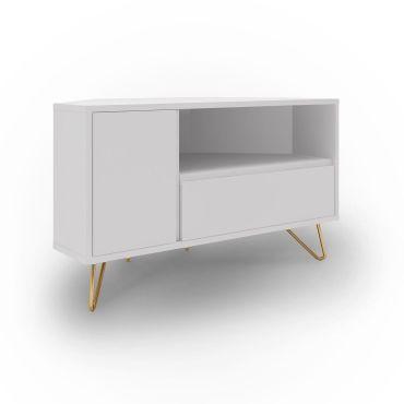 meuble tv d angle blanc darina vente