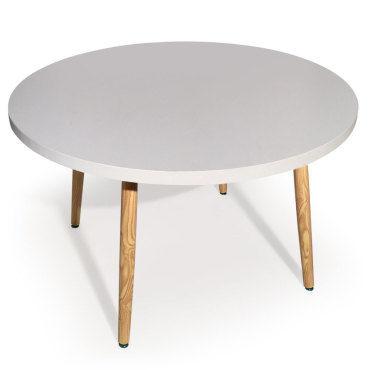 table ronde scandinave nora blanc
