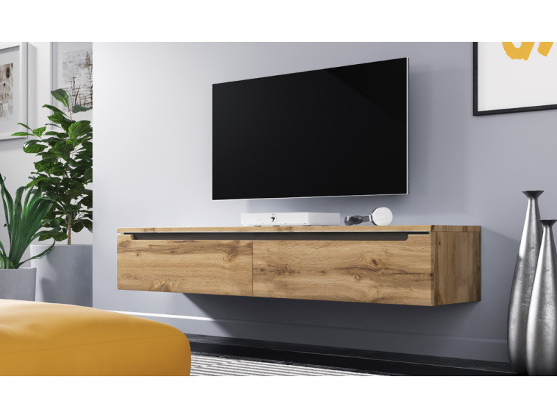 meuble tv swift 140 cm chene wotan sans led