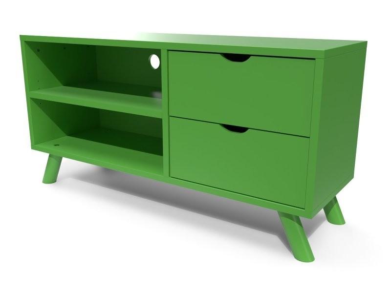meuble tv scandinave viking bois vert