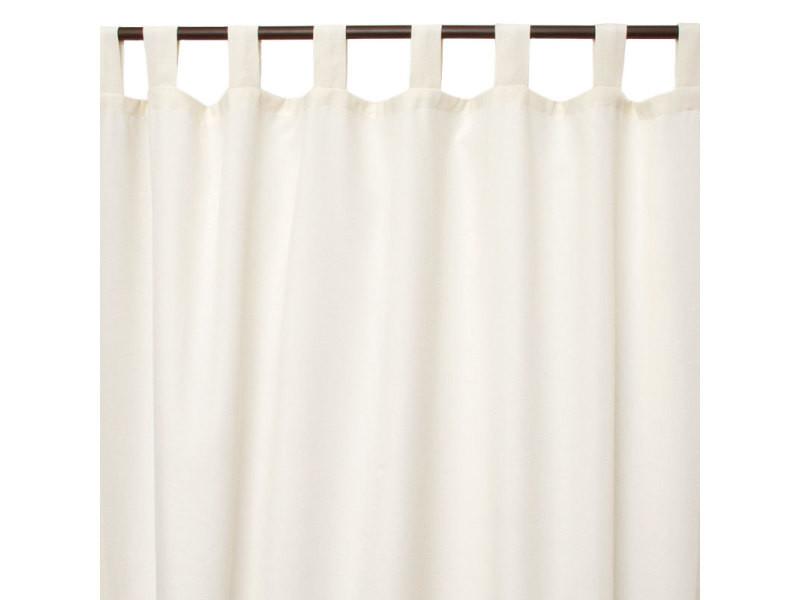 first coton rideau en polycoton a pattes ecru 140x250