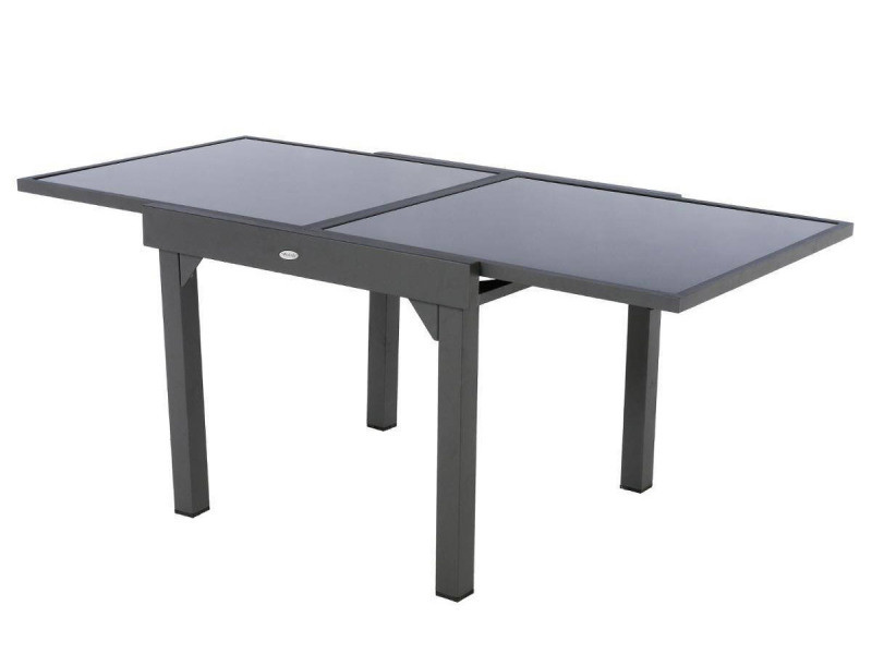 table piazza extensible 8 personnes anthracite graphite