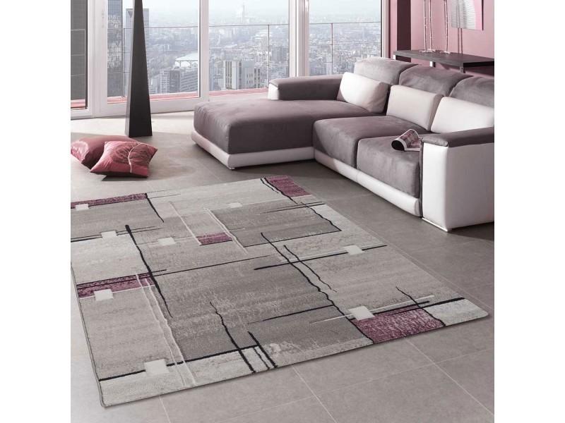 tapis grand dimensions nova violet 60 x 110 cm tapis de salon moderne design par unamourdetapis
