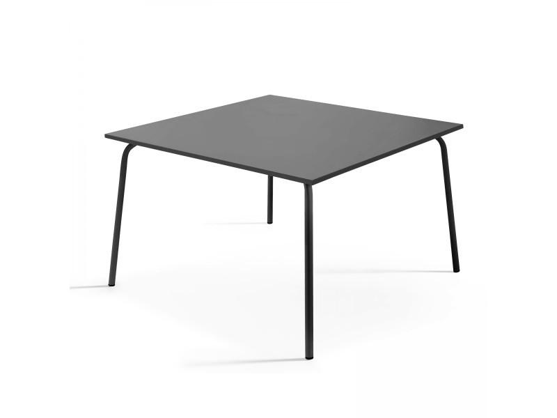 table de jardin carree en metal