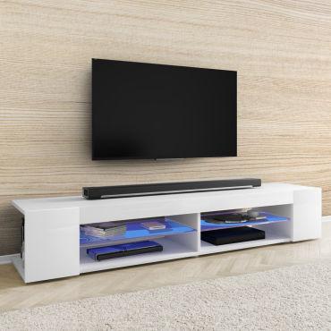 meuble tv mitchell 180 cm blanc