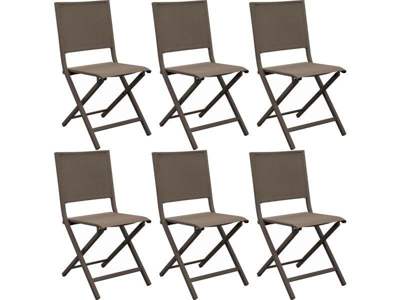 chaise pliante en aluminium florence lot de 6