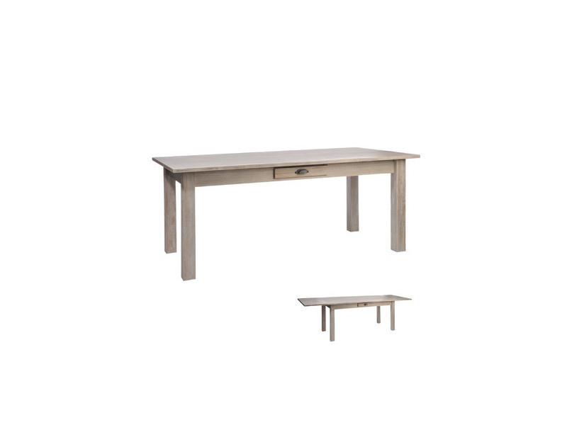 table rectangulaire escamotable coloris naturel