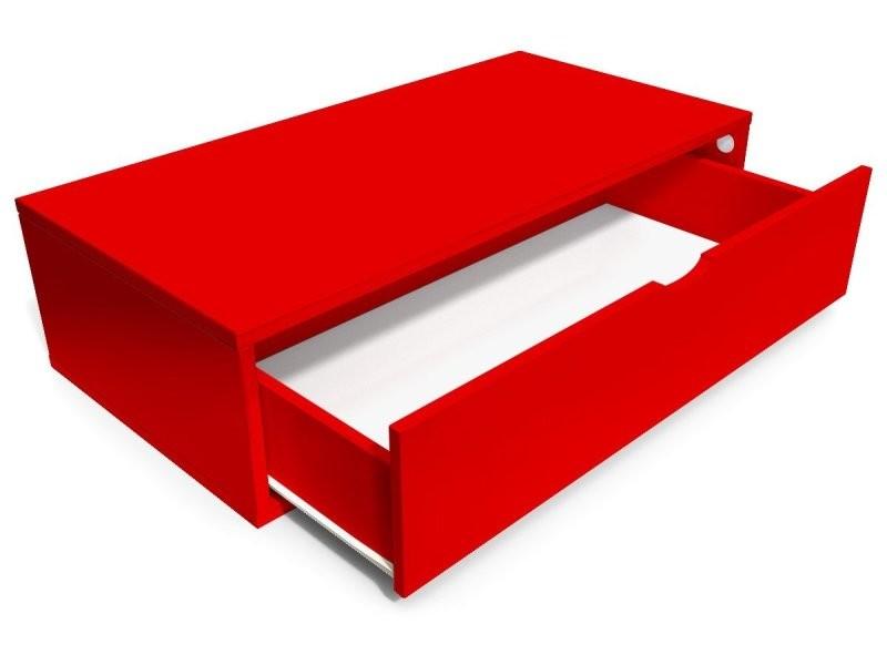 Cube De Rangement 100x50 Cm Tiroir Rouge Cube100t Red Vente De Abc Meubles Conforama
