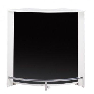 Meuble Bar Comptoir 107 Cm Face Noire Coloris Blanc Vente De Beauxmeublespaschers Conforama