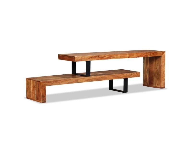 moderne meubles ligne managua meuble tv bois d acacia massif