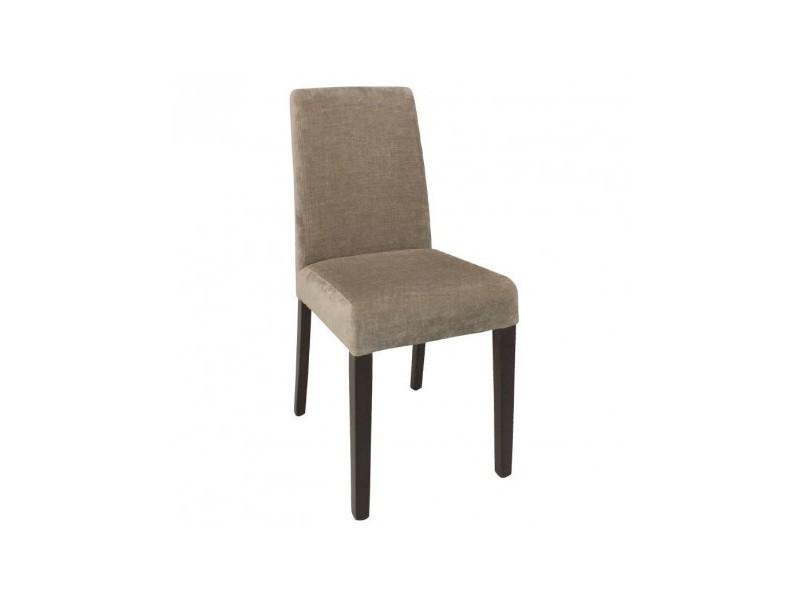 chaises en tissu beige bolero lot de 2