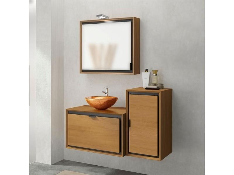 Armoire De Toilette En Teck 1 Porte Reversible Collection Dom Vente De Armoire Colonne Etagere Conforama