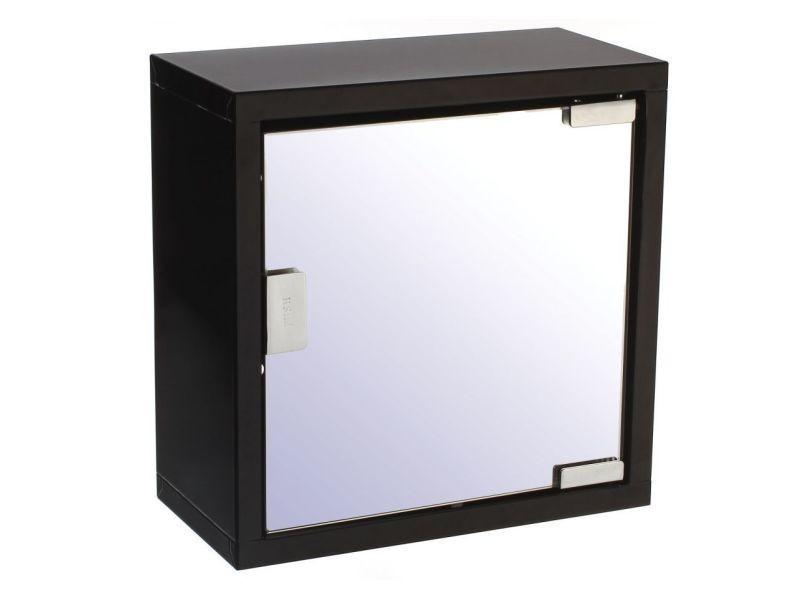 meuble haut salle bain armoire pharmacie noir