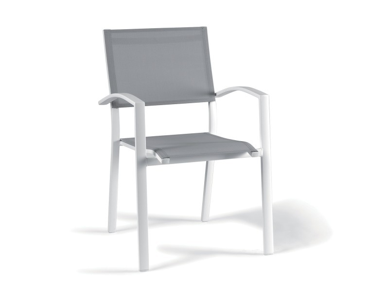 salons jardin chaise blanc