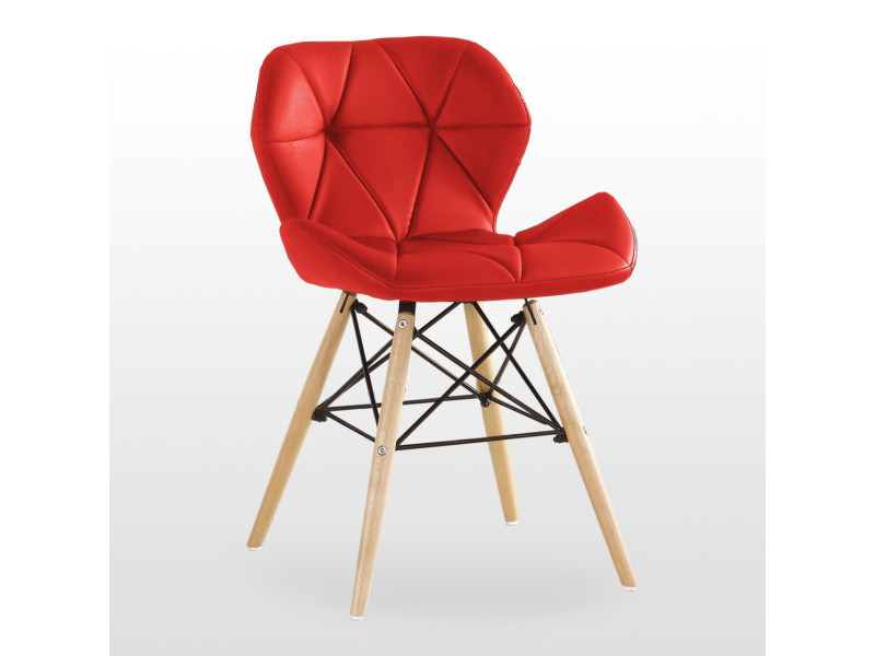 chaises cuir rouge