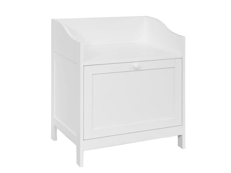 meuble a chaussures banc de rangement meuble d entree commode a chaussures avec porte blanc sobuy fsr51 w