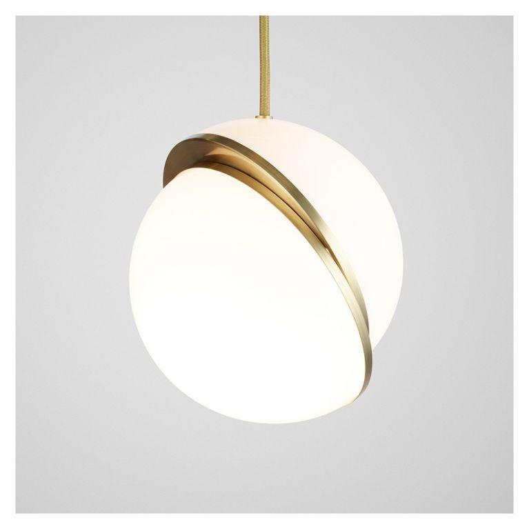 crescent pendant light mini