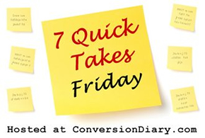 7 quick takes sm1  7 Quick Takes about spicy ebooks, awesome Twitter bios, getting foot jacked (and other reasons why its not going by so fast)