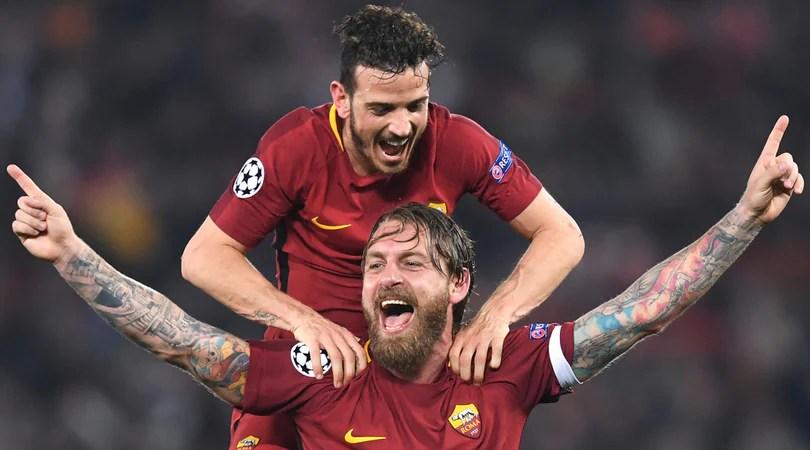 Champions, De Rossi: Ora andiamo a Kiev. Totti e Monchi: Daje Roma!