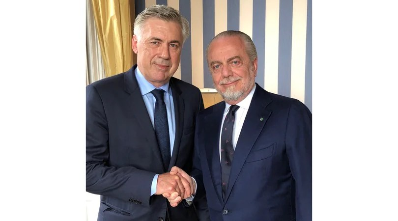 Risultati immagini per E' ufficiale, Ancelotti è il nuovo allenatore del Napoli