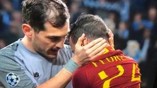 Florenzi in lacrime consolato da Casillas