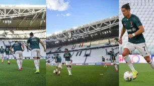 Juve comes home, training at the stadium