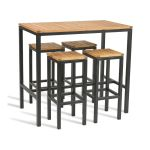 Ice Outdoor Industrial Style Bar Table Stool Set Zap Cost Cutters Uk